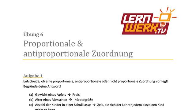 MSA Mathe Arbeitsblatt für Lektion 6 ǀ Lernwerk TV