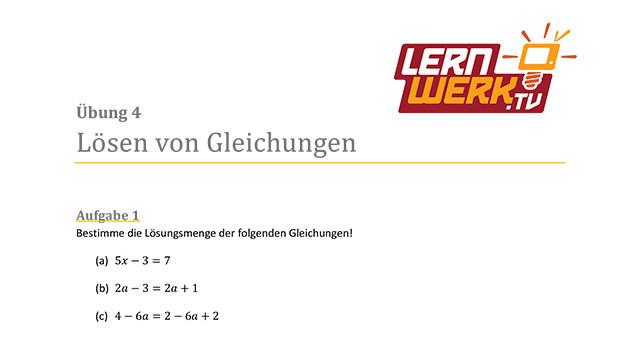 MSA Mathe Arbeitsblatt für Lektion 4 ǀ Lernwerk TV