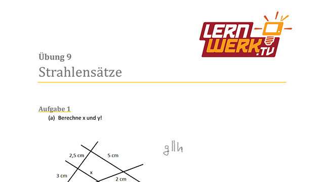 MSA Mathe Arbeitsblatt für Lektion 9 ǀ Lernwerk TV
