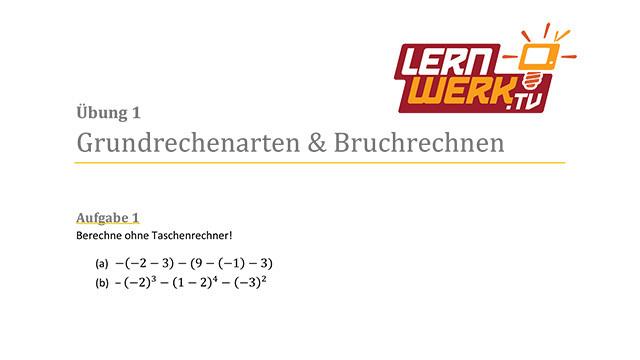 MSA Mathe Arbeitsblatt für Lektion 1 ǀ Lernwerk TV