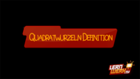 5.1.1 Quadratwurzeln - Definition