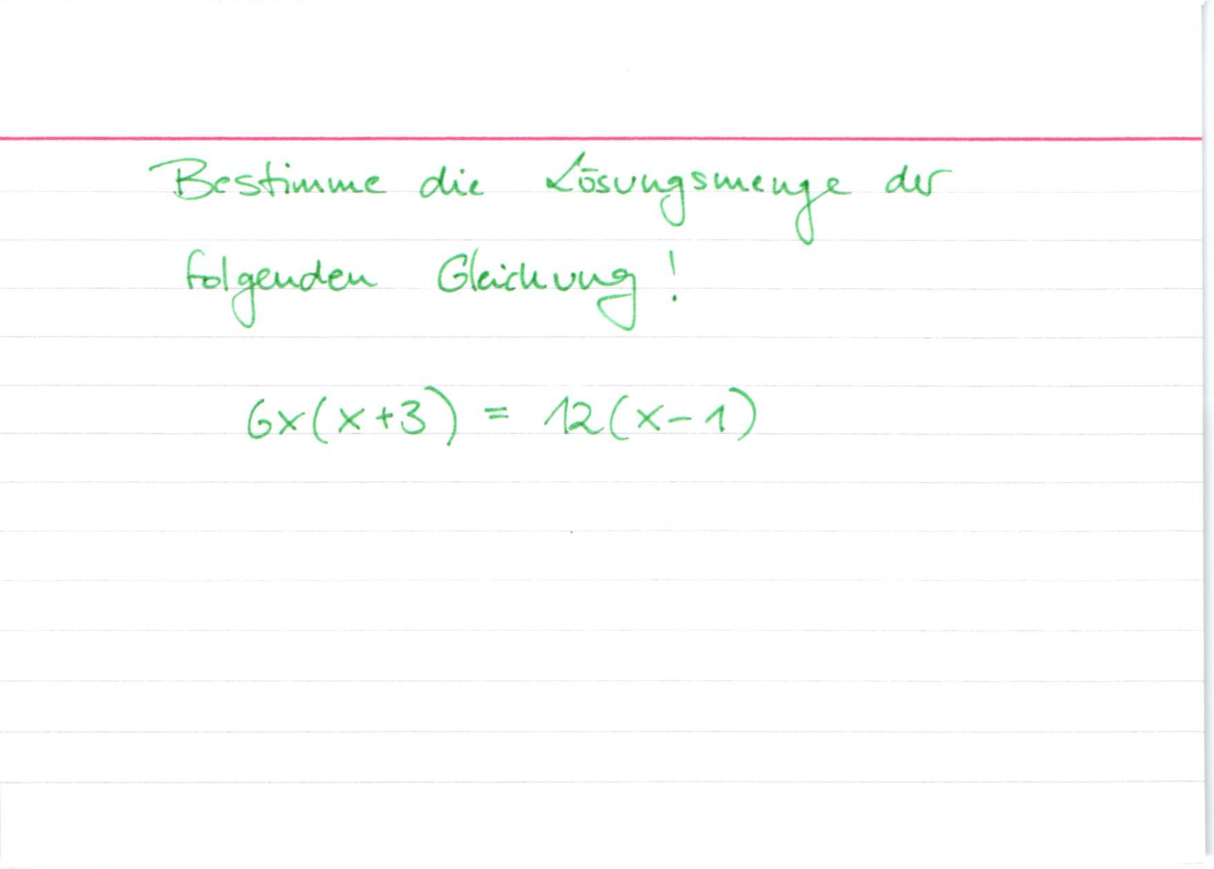 MSA Mathe Lösen von quadratischen Gleichungen